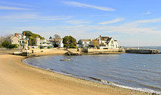 Homes on the Long Island Sound at Pine Point, Rowayton